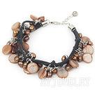 染色珍珠贝壳手链