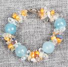 珍珠水晶海蓝晶手链