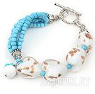 蓝松石琉璃手链