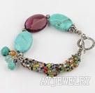 蓝松石紫色水晶手链