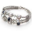 黑白天然紫珍珠手环