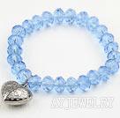 蓝色水晶弹力手环