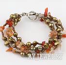 天然玛瑙珍珠手链