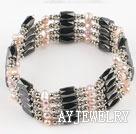 珍珠磁铁手链
