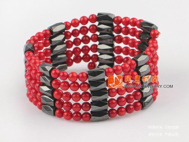 红珊瑚磁铁手环