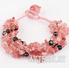 黑珍珠西瓜水晶手链