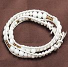 白瓷石两圈绕圈手链