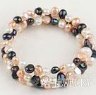 珍珠三色手环