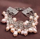 天然紫色珍珠多层手链