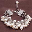 白色多层珍珠手链