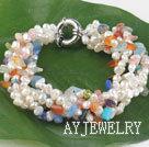 珍珠杂石手链