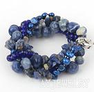 珍珠水晶蓝纹石手链