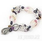 彩色珍珠琉璃手链