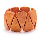 橘色三角松石弹力手链手环 手排款