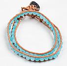 海绵蓝晶两圈绕圈手链
