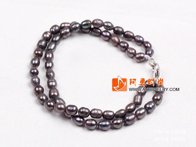 双层米形珍珠手链
