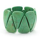 绿色三角松石弹力手链手环 手排款