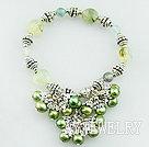 珍珠绿碧榴手环