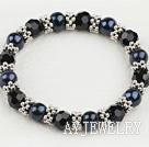 黑珍珠水晶手链