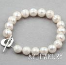 白色螺纹珍珠手链