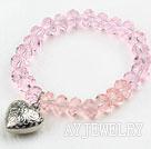 粉色水晶弹力手环