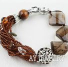 木变石水晶手链