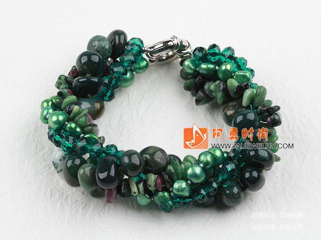 珍珠水晶海洋玛瑙手链