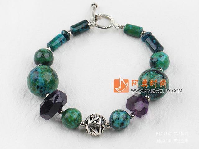 凤凰石紫水晶手链