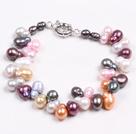 彩色葫芦珍珠手链