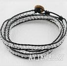 水晶皮绳手链