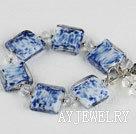 青花琉璃水晶手链
