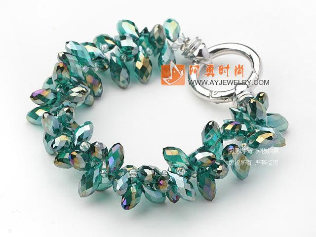 绿色水滴水晶手链
