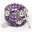 8mm切面紫水晶手环