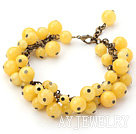 黄色糖果玉手链 合金链charm款