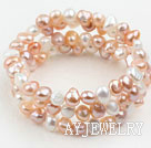 三色珍珠手环