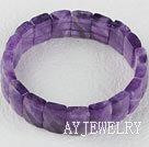 紫水晶切面弹力手排