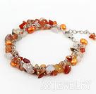 染色珍珠天然玛瑙手链