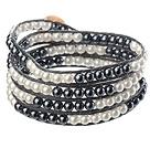 黑色玻璃珠编织手链