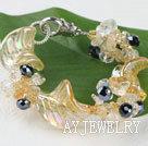 黄水晶琉璃手链
