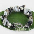 珍珠水晶琉璃手链