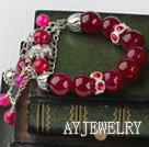 玫瑰色玛瑙手链