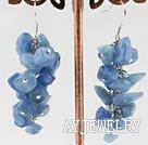 蓝晶石耳环