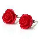 玫瑰花耳钉