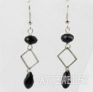 黑色水晶耳环