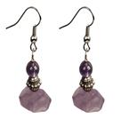 冲角紫水晶耳环