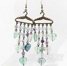 紫萤石耳环