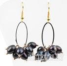 黑珍珠耳环