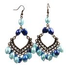 8-9mm蓝色珍珠耳环
