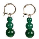 绿玛瑙耳环