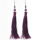 紫水晶流苏耳环